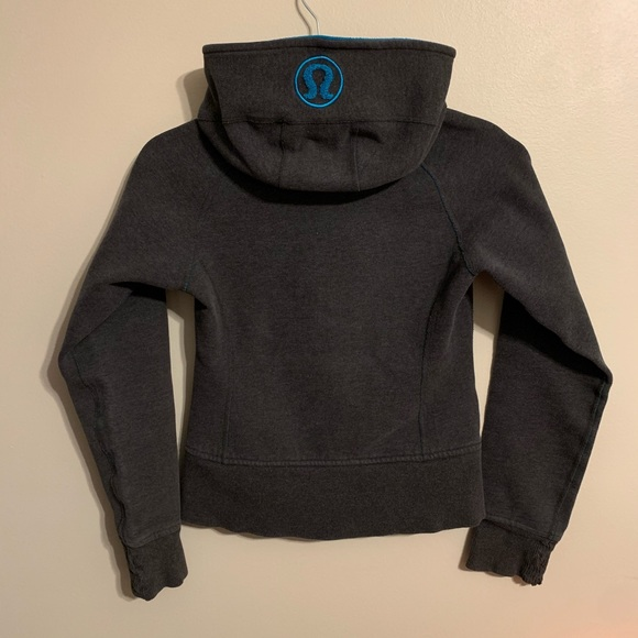 Lululemon grey scuba hoodie with blue interior